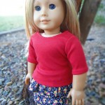 How to Make Peplum Skirt for American Girl Dolls