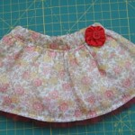 Floral Skirt with Wide Waistband