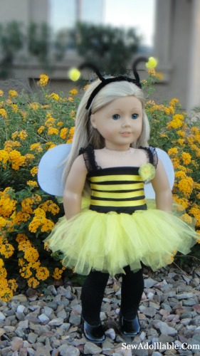ag doll bumble bee costume