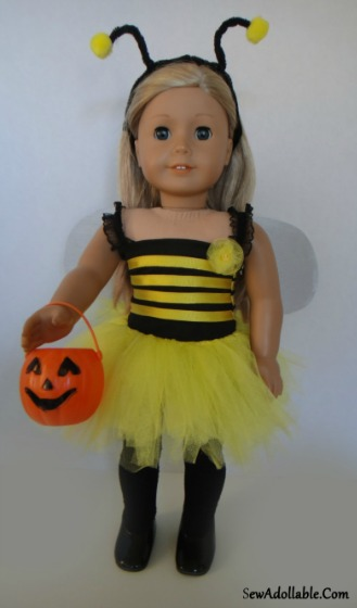 Bumble Bee Costume for AG Dolls