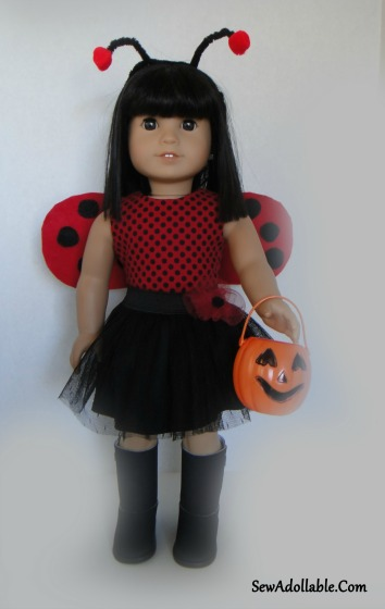 lady bug costume ag doll