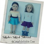Skater Skirt Tutorial – American Girl Dolls