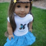 No Pattern Maxi Skirt for American Girl Dolls