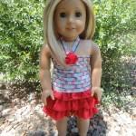 No Pattern Ruffled Skirt for American Girl Dolls