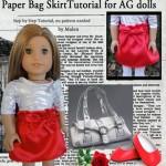 Paper Bag Skirt for American Girl Dolls