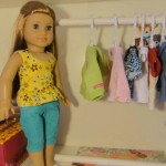 Clothes Rack for American Girl Dolls Using PVC Pipes