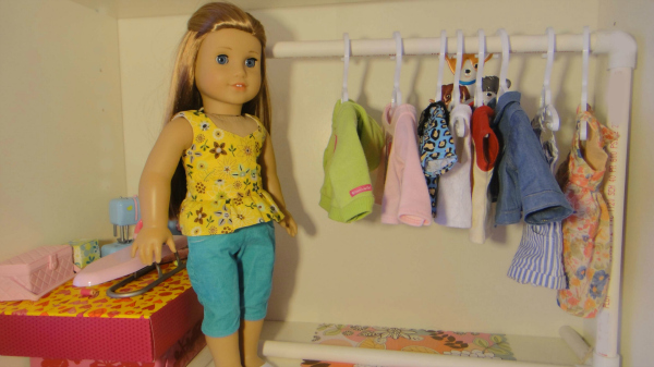 Clothes Rack For American Girl Dolls Using Pvc Pipes Sew Adollable