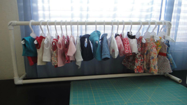 Clothes Rack For American Girl Dolls Using PVC Pipes Sew Adollable Fascinating Pvc Coat Rack