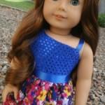 One Shoulder Dress Tutorial for American Girl Dolls