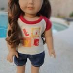 Easy Shorts Pattern for American Girl Dolls