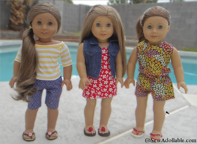 No-Sew Flip Flops for American Girl Dolls