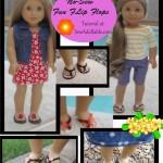 No-Sew Fun Flip Flops for American Girl Dolls