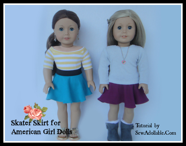 Skater Skirt Tutorial American Girl Dolls Sew Adollable