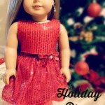 How to Sew the Sequined Holiday Dress for American Girl Dolls